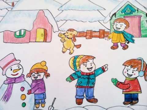 冬天画简单儿童画画